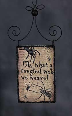 Tangled Web Postcard Picture Ornament