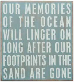 Memories of the Ocean Box Sign