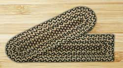 Ebony, Ivory, and Chocolate Braided Jute Stair Tread - Oval