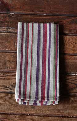 Blackberry Stripe Napkin