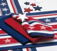 Design Imports (DII) Stars & Stripes Jacquard Napkin