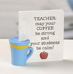 Teacher Coffee Plaque