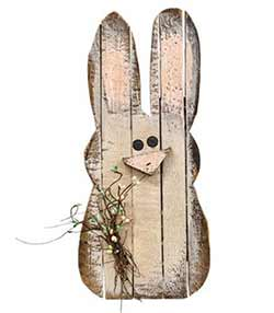 Large Lath Bunny Wall Decor