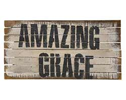 Amazing Grace Lathe Sign