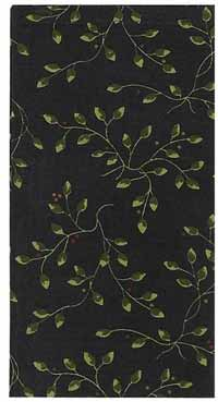 Berry Vine Napkin, Black
