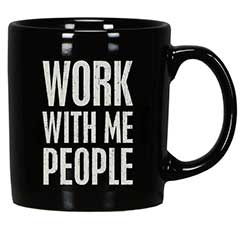 Work With Me People Box Sign Mug