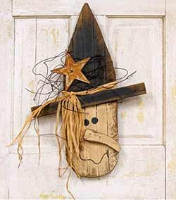 Lath Witch Head Wall Decor