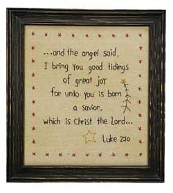 Luke 2:10 Stitchery