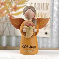 Fall Angel with Cornucopia