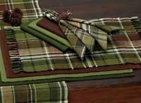 Design Imports (DII) Pine Tree Plaid Placemat