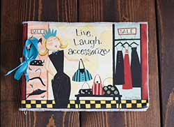 Live Laugh Accessorize Girlfriends Journal