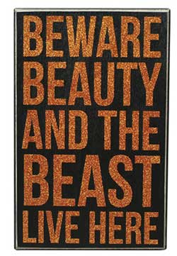 Beauty & the Beast Box Sign