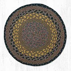 Brown, Black, and Charcoal Braided Jute Chair Pad