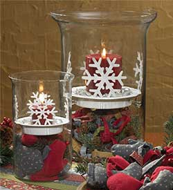 Snowflake Pillar Candle Pan (6 inch)