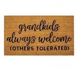 Grandkids Welcome Doormat