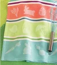 Raining Rabbits Jacquard Dishtowel