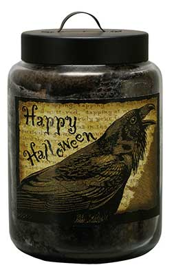 Autumn Jar Candle with Raven