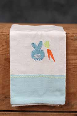 Bunny Embroidered Guest Towel
