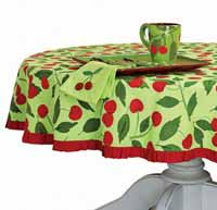Cherries Round Tablecloth