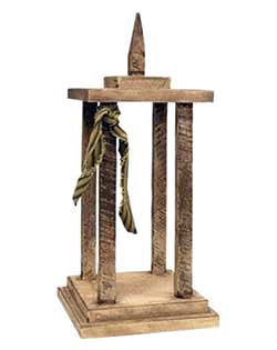 Primitive Lath Wood Lantern