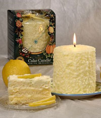 Lemon Delight Cake Candle