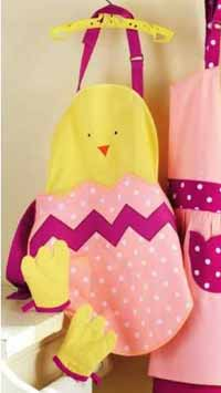 Baby Chick Apron &amp; Mitt Set