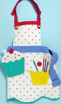 Cupcake Child Apron & Mitt Set