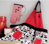 Cat Apron and Mitt Set
