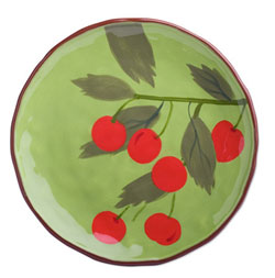 Cherries Luncheon Plate