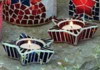Star Shaped Mosaic Glass Tealight