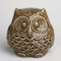 Crackle Glazed Garden Owl