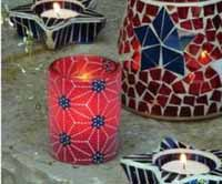 Starburst Sugared Glass Votive