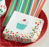 Cupcake Paper Cocktail Napkins