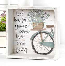 Keep Going Shadow Box Sign
