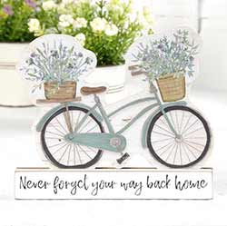 Your Way Back Home Bicycle Shelf Sitter