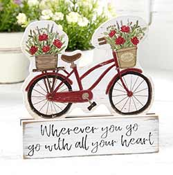 Wherever You Go Bicycle Shelf Sitter