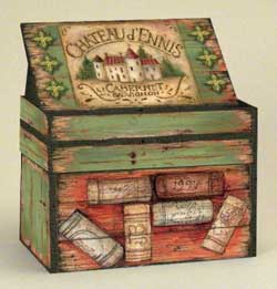 Wine Country Recipe Card Box