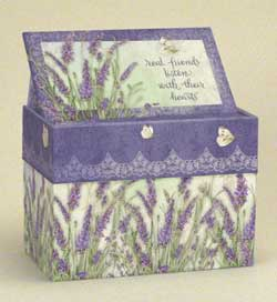 Lavender Recipe Card Box