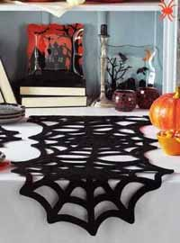 Spiderweb Felt Tablerunner