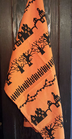 Haunted Neighborhood Dishtowel - Printed