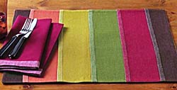 Fall Woven Stripe Placemat