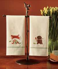 TAG Foxy Fall Friends Guest Towel