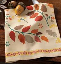 TAG Fall Leaf Printed Dishtowel