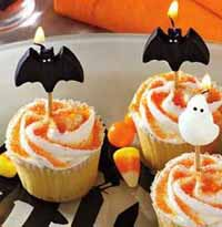 Bat Candle on a Stick (Set of 4)