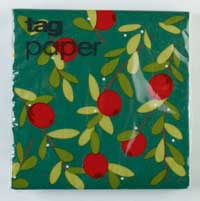 Cranberries Jardin Paper Cocktail Napkins