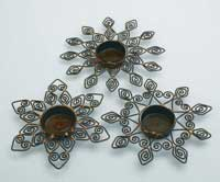 Antique Bronze Snowflake Tealight