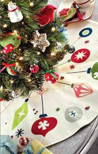 TAG Happy Holidays Ornament Mini Tree Skirt