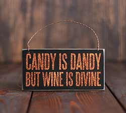 Candy is Dandy Halloween Sign Ornament