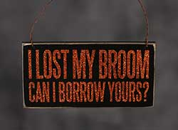 Lost Broom Box Sign Plaque