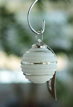 Frost White Festive Ornament - 2 inch